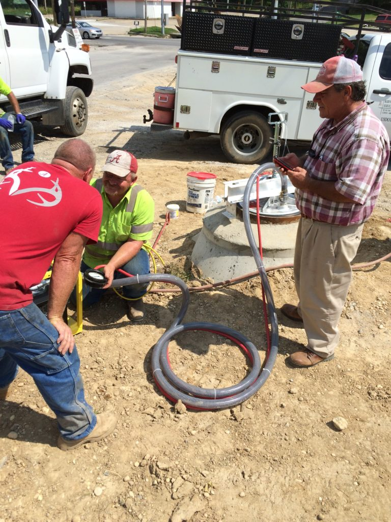 sewer repair vacuum testing manholes