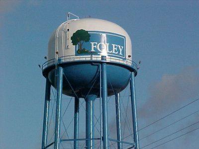 Foley, Alabama - tank with tree logo